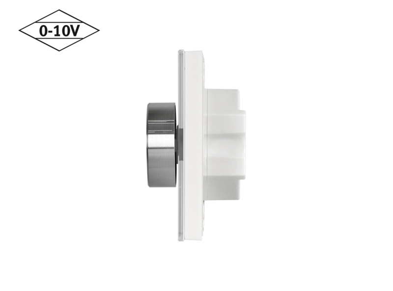 Mounted 0-10V Wall Dimmer Side View