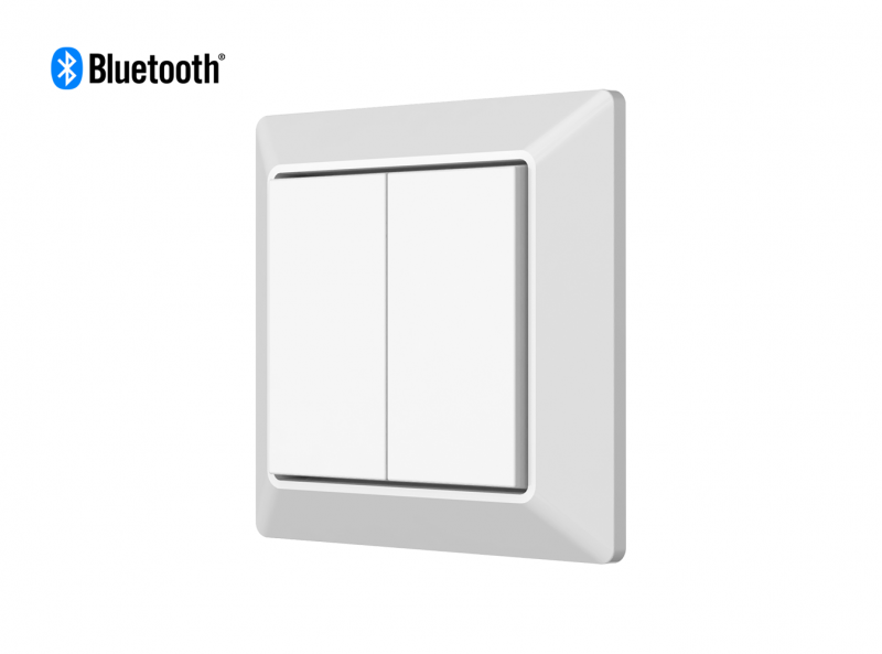Mounted Bluetooth Wall Dimmer Diagonal Front View