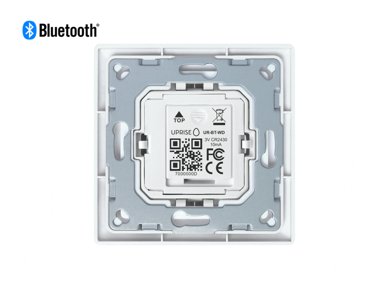 Mounted Bluetooth Wall Dimmer Diagonal Back View