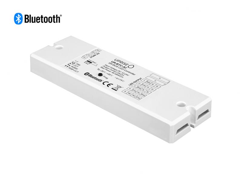 Bluetooth 5CH LED Controller Receiver For RGBCW (12V-24V) Diagonal View 2 - UR-BTC-5C