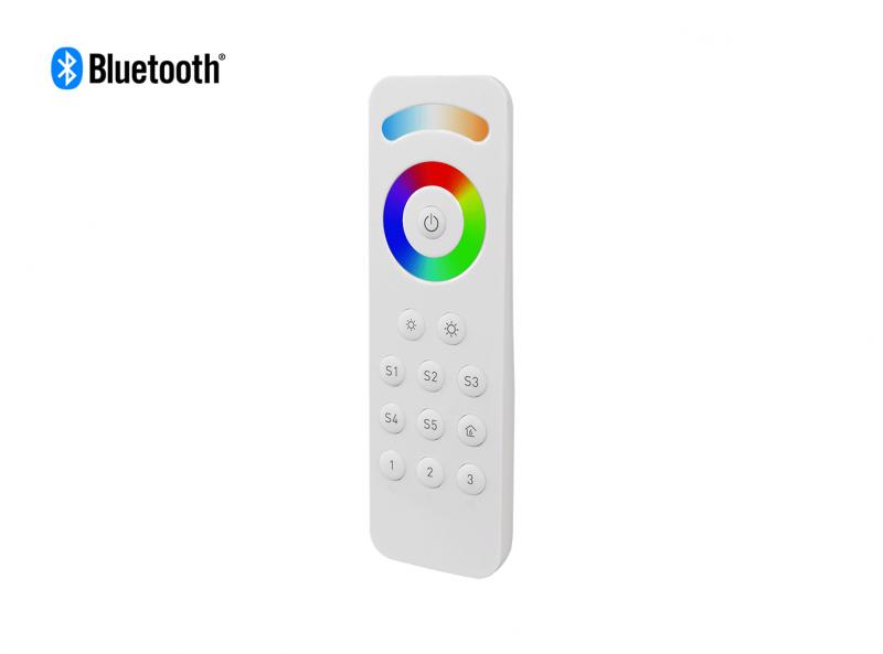 Bluetooth RGBCW (RGB + CCT + DIM) LED Remote Front View 2
