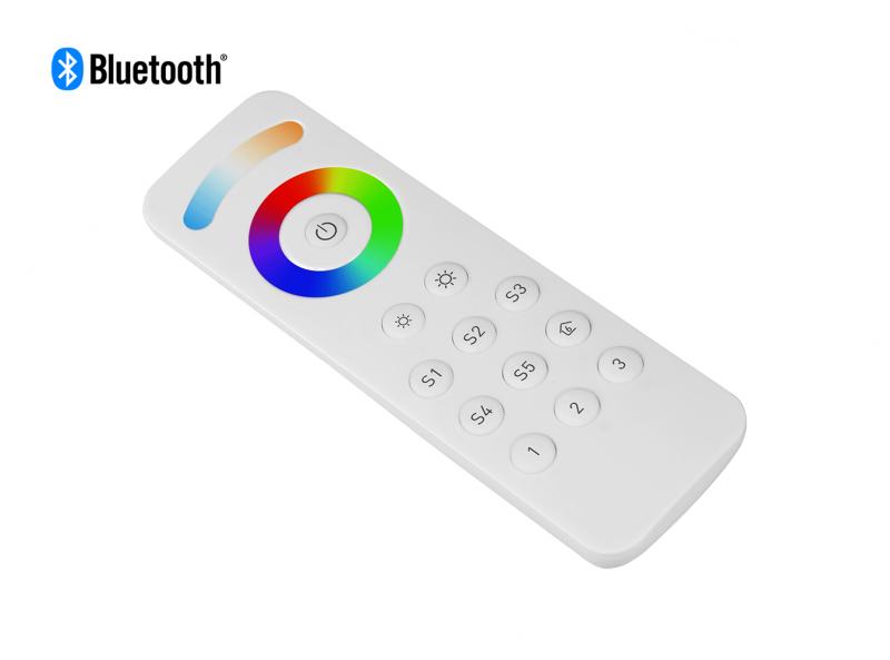 Bluetooth RGBCW (RGB + CCT + DIM) LED Remote Diagonal