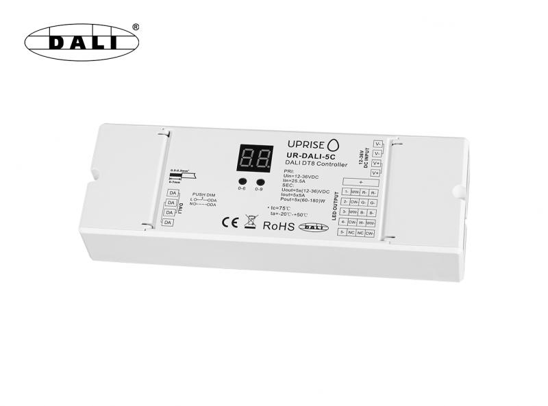 DALI 5CH LED DT8 Dimmer For RGBCW (12V-36V) Diagonal Overview 2