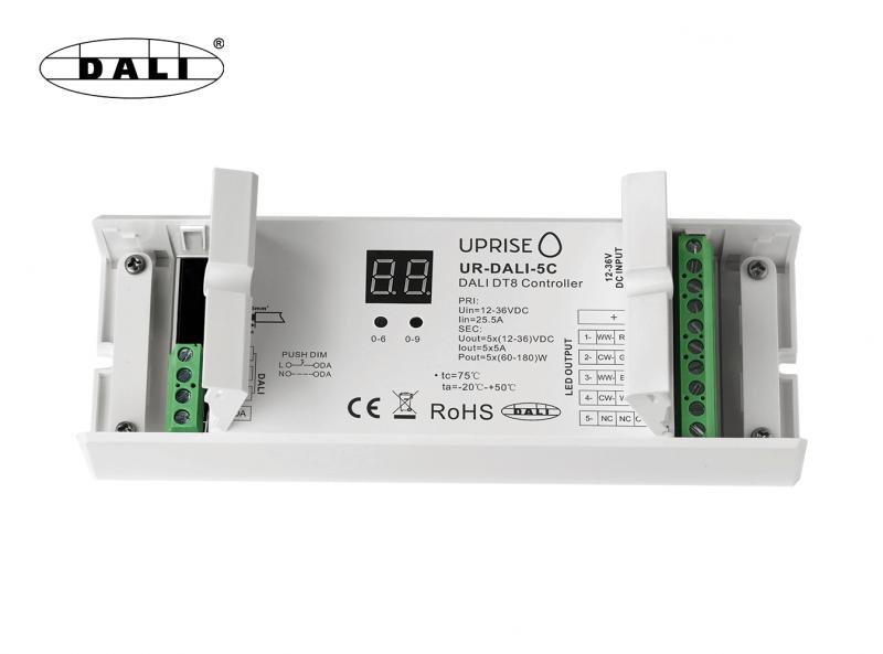 DALI 5CH LED DT8 Dimmer For RGBCW (12V-36V) Open Frame View